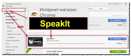 Переводим текст в голос. Расширение Speaklt.