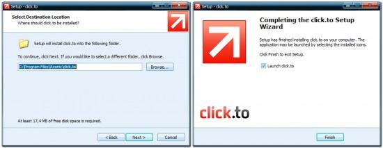 установка программы Сlick.to