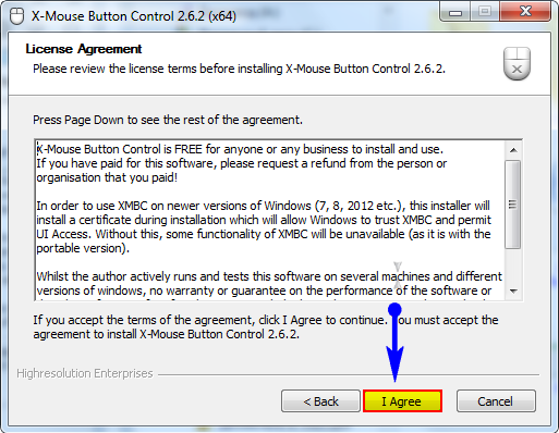 Установка программы x-mouse