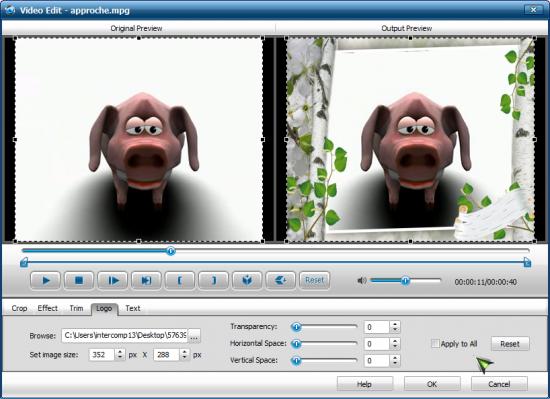 Как вставить видео в рамку