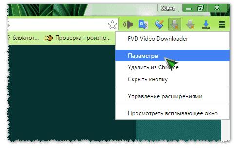 Настройка FVD Video Downloader