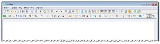 Панель инструментов AkelPad